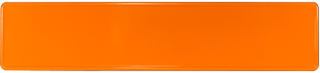 Blechschild orange